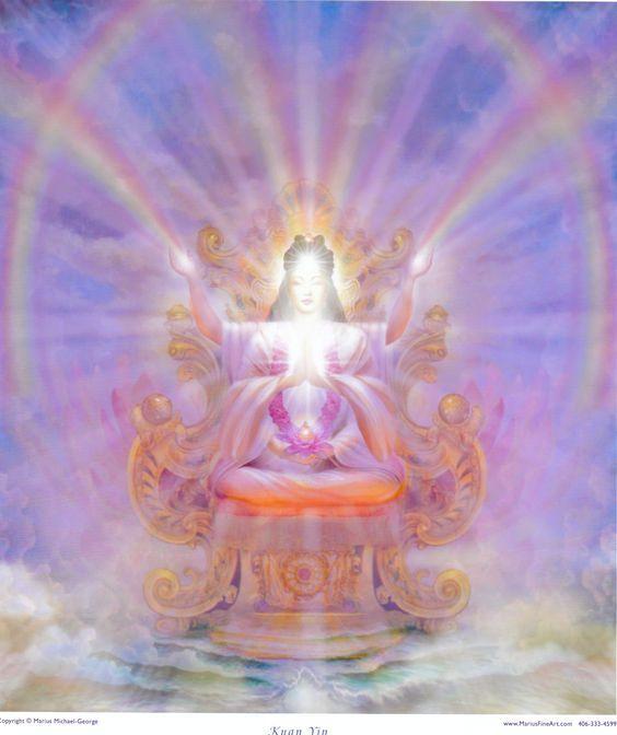 Holy of Holies.  Christ Consciousness.  Rainbow body.  Light Body.   Kuan Yin, Goddess of Mercy by Marius Michael George.