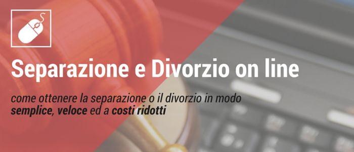 Separazione e Divorzio on line