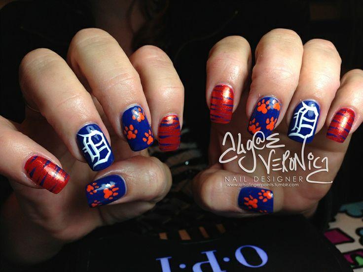 Detroit Tigers nails - Nail Art Gallery