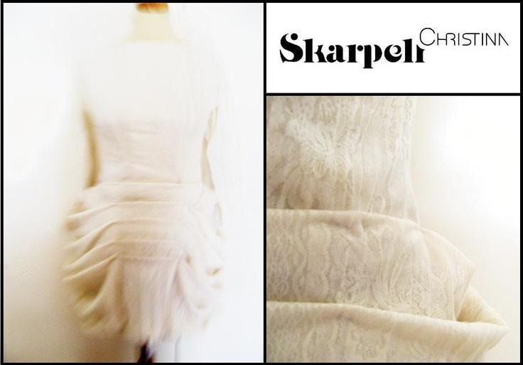 "Christina Skarpeli > ""deep"" white lace dress"
