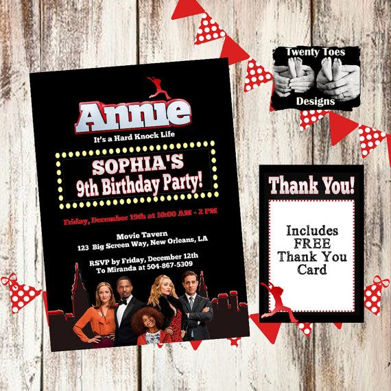 Hey, I found this really awesome Etsy listing at https://www.etsy.com/listing/212713598/annie-the-movie-2014-birthday-party