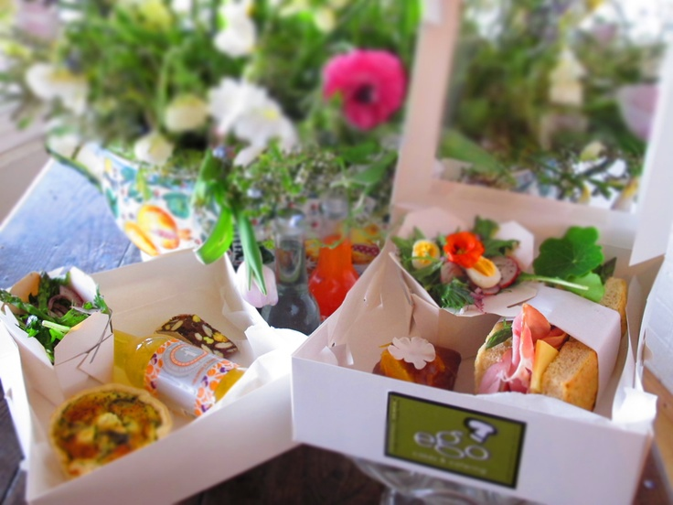 Take away lunch boxes from Ego's Culinaria in Daylesford.. what a great idea! www.egosculinaria.com.au