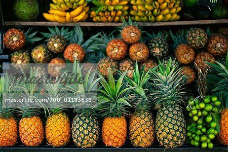 Fruit Stand, Antilles, Guadeloupe, French West Indies  – Image © Alberto Biscaro / Masterfile.com: Creative Stock Photos, Vectors and Illustrations for Web, Mobile and Print