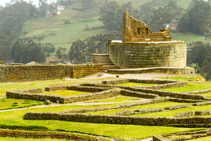 Temple of the Sun ruins Ingapirca Ecuador