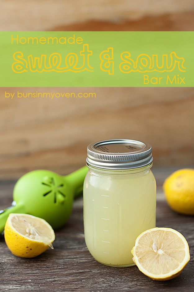 This makes a delicious non-alcoholic drinks, too! Homemade Sweet and Sour Bar Mix #recipe by bunsinmyoven.com