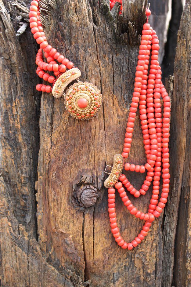 Necklace from the Dutch Provence of Zeeland that used to be worn with the traditional clothing