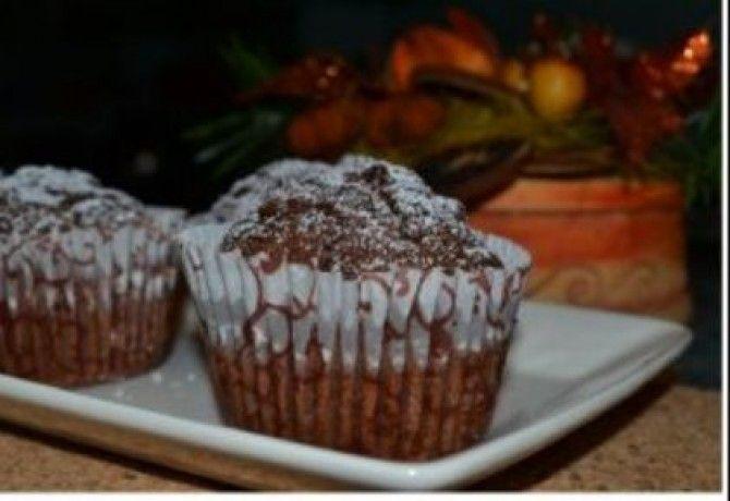 Csokis muffin csokidarabokkal