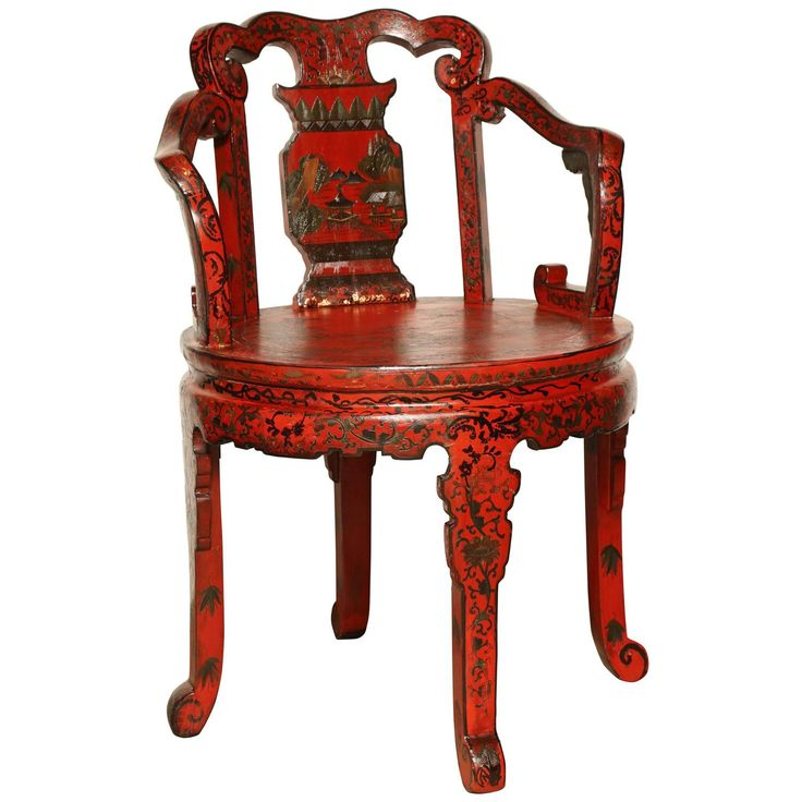 Chinese Lacquered Chinoiserie Armchair. Asian FurnitureChinoiserieArmchairs Southeast ...