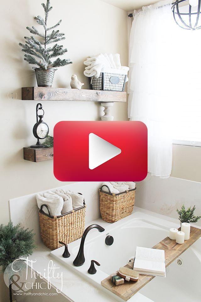 Bauernhaus Weihnachtsdekor Und Dekorationsideen Badezimmer
