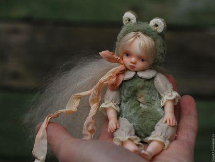 Мишки Тедди ручной работы. Ярмарка Мастеров - ручная работа. Купить Летне-детское.... Handmade. Куколка, фарфоровая малышка, опилки