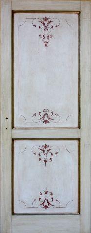 Porta in legno massello - Porta decorata e dipinta a mano