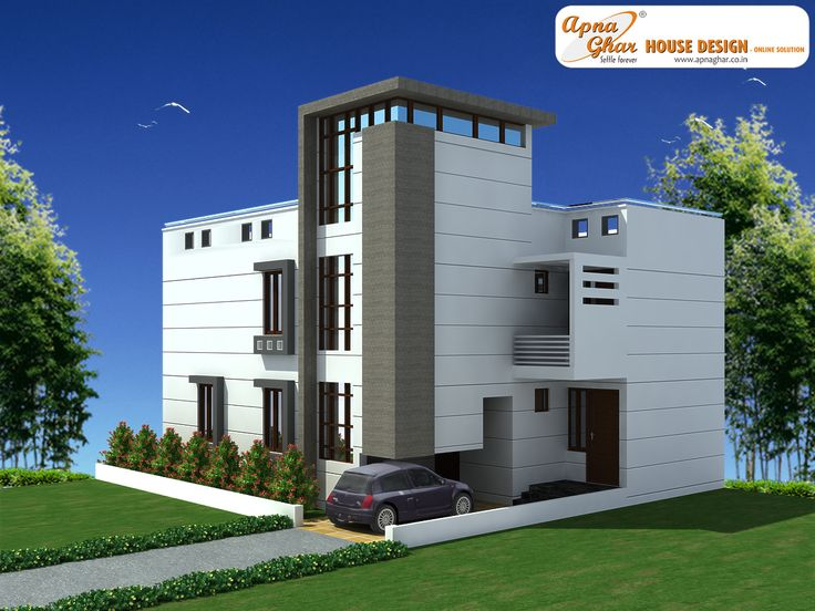 6 Bedrooms Duplex House Design in 156m2 (12m X 13m). Ground Floor- Two bedroom one attached with toilets & dress, one spacious kitchen, drawing room, dining/lobby and one common toilet. Ample space for car parking is given in drives way. Lawns at both rear and front ends make this house more beautiful and well ventilated.  First Floor - Four bedroom one attached with toilets & dress, lobby and one common toilet. View Plan: http://apnaghar.co.in/house-design-316.aspx