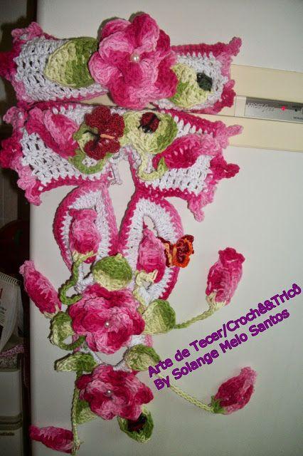 croch234 gr225fico flores de croch234 para enfeitar puxadores