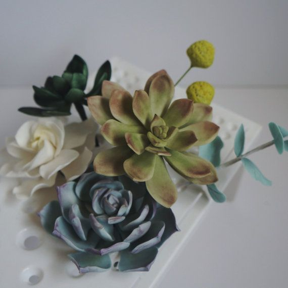 Sugar succulent, GumPaste Succulent, Fondant Succulent, Gum Paste Succulent for Edible Flower Wedding/Birthday Succulent Cake Topper, Ask a Question