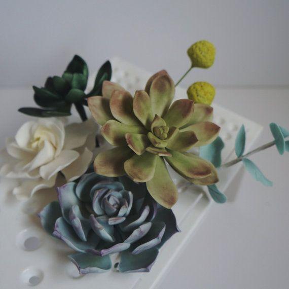 Sugar succulent, GumPaste Succulent, Fondant Succulent, Gum Paste Succulent for Edible Flower Wedding/Birthday Succulent Cake Topper,  Ask a Question