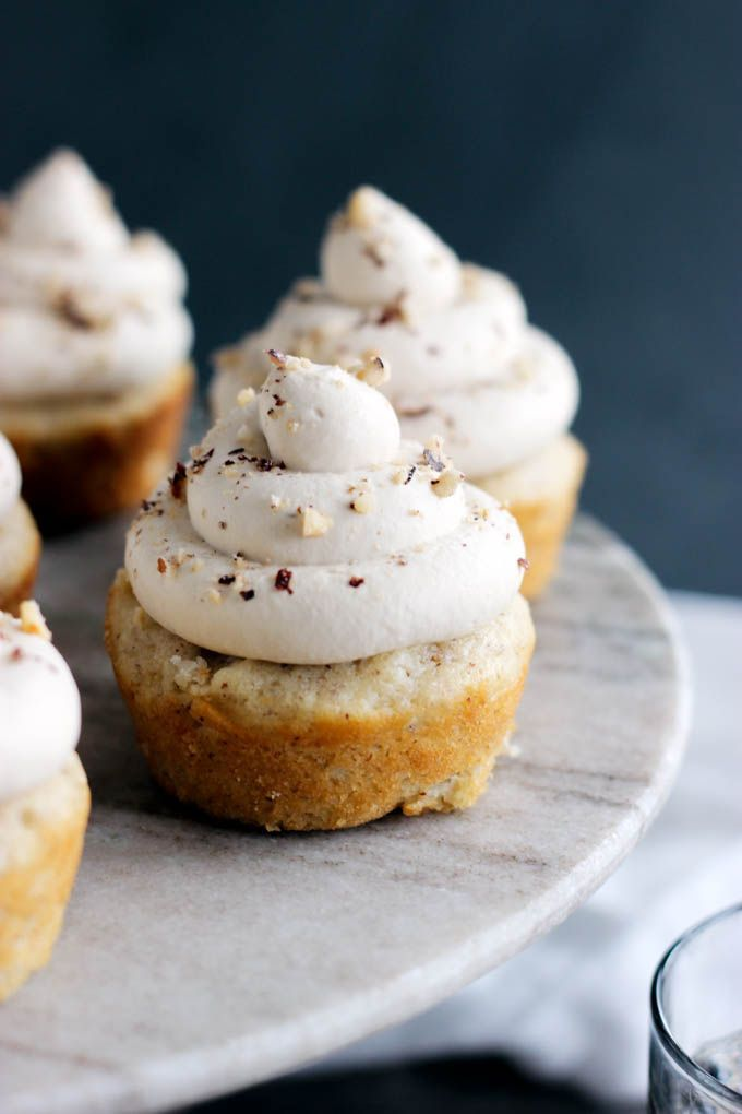 Hazelnut Latte Cupcakes