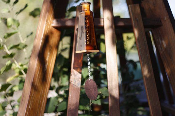 Amber 178ml Glass Bottle Wind Chime - Gifts for Mom ... on Amber Outdoor Living id=68100
