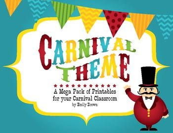 Get your Carnival Classroom ready for the school year! It's never too early to start prepping your room and this bundle will take care of most of the decorating for you. Included in this pack, you will find TONS of printables, including editable files for most of the products, complete with use suggestions and a list of fonts that were used on each document.
