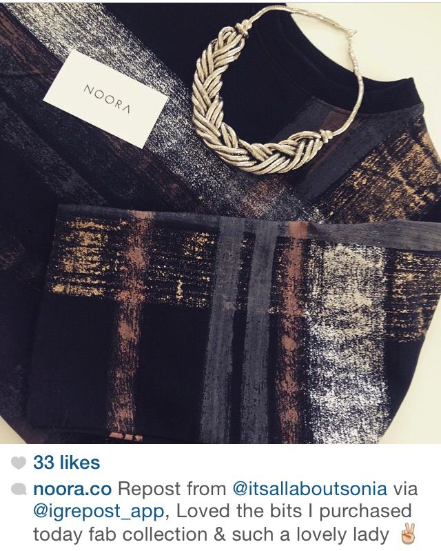 Repost from one of our happy customers #NOORA #mydubai #fashionweek #PFW #streetstyle #boxfit #backtobasics #UAE