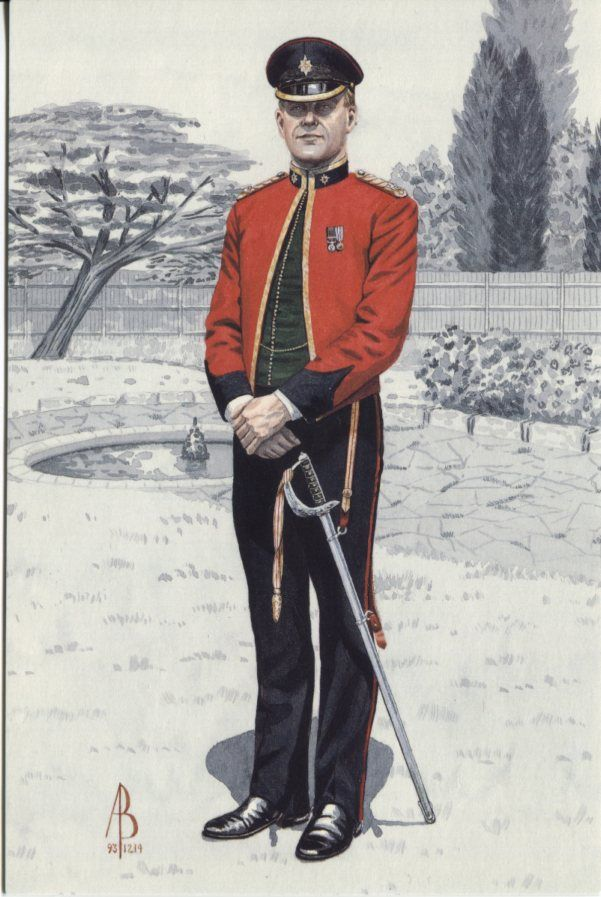 Alix Baker Postcard - AB19/3 Field Officer of the Week, 1st Bn The Worcestershire and Sherwood Foresters Regiment (29th/45th Foot) 1993