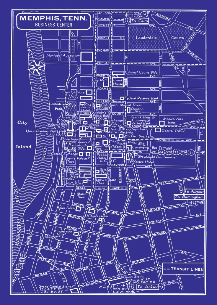 "What: Vintage map of Memphis blueprint  Perfect for: Anyone who needs some decoration  Pair with: A book about Memphis (like the excellent ""Ask Vance"" books by Vance Lauderdale)  How much: $15"