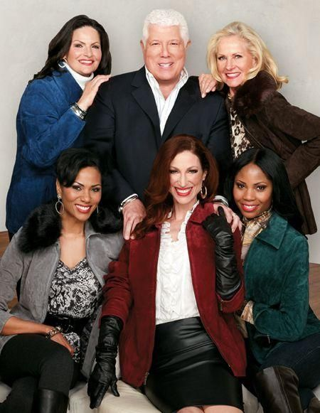 Dennis Basso and the QVC Models.