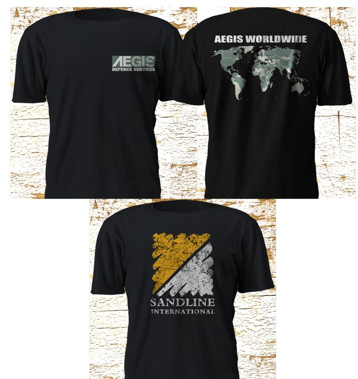 Private Military Company UK AEGIS DEFENCE SERVICES SANDLINE INTERNATIONAL S-5XL #GildanFruitTheLoom #GraphicTee
