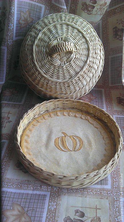 Кухня ручной работы. Плетеная хлебница Золотая нива. Зиляра 'Плету с душой'. Ярмарка Мастеров. Плетение, для дачи, спелая пшеница