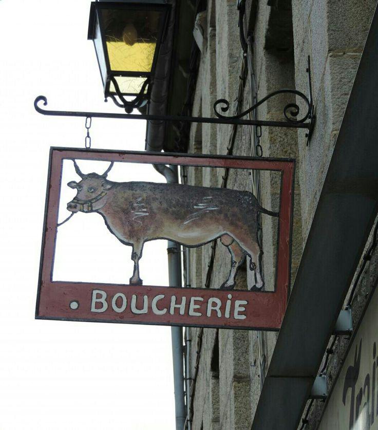 Sign Butcher Shop.