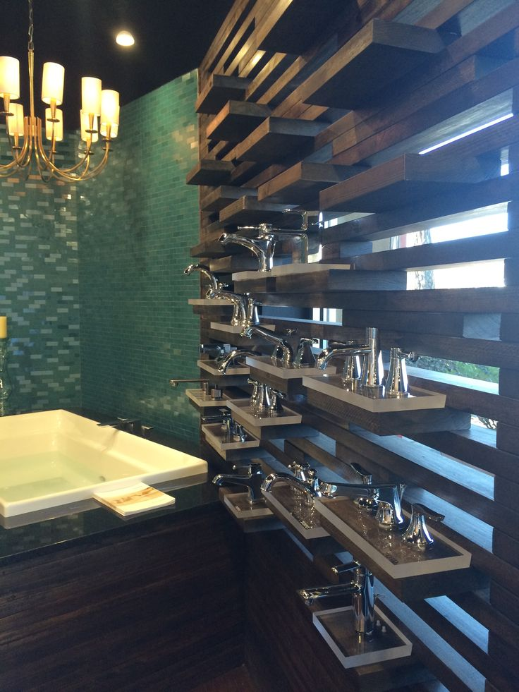 Our faucet wall at European Sink