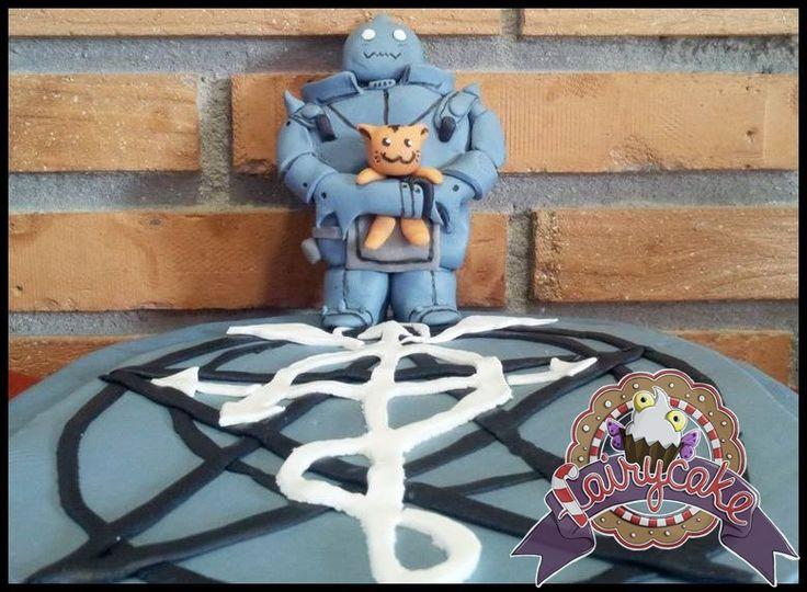 Tarta del manga Full Metal Alchemist. #FMA