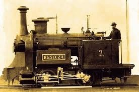 The first locomotive in 1872 - made in Resita