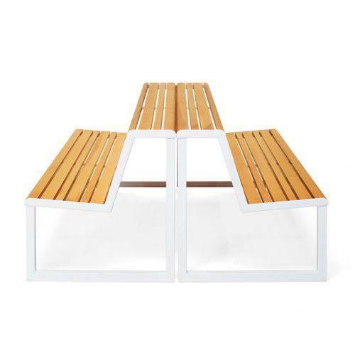 Moderne Bank- und Tischgarnitur / Esche / aus Stahl / aus verzinktem Stahl - VENTIQUATTRORE.H24 by Alberto Basaglia & Natalia Rota Nodari - Diemmebi S.p.A.