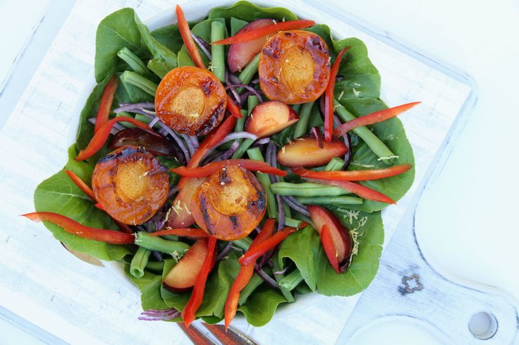 Summer Salad with Chargrilled Apricots