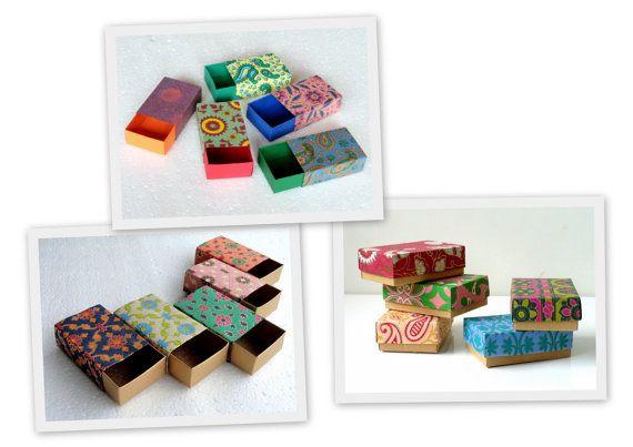 Assortiment de boîtes-cadeaux, emballage, boîte faveur mariage, Kraft boîte de papier -30 assortis imprimés, boîtes d'emballage de bijoux