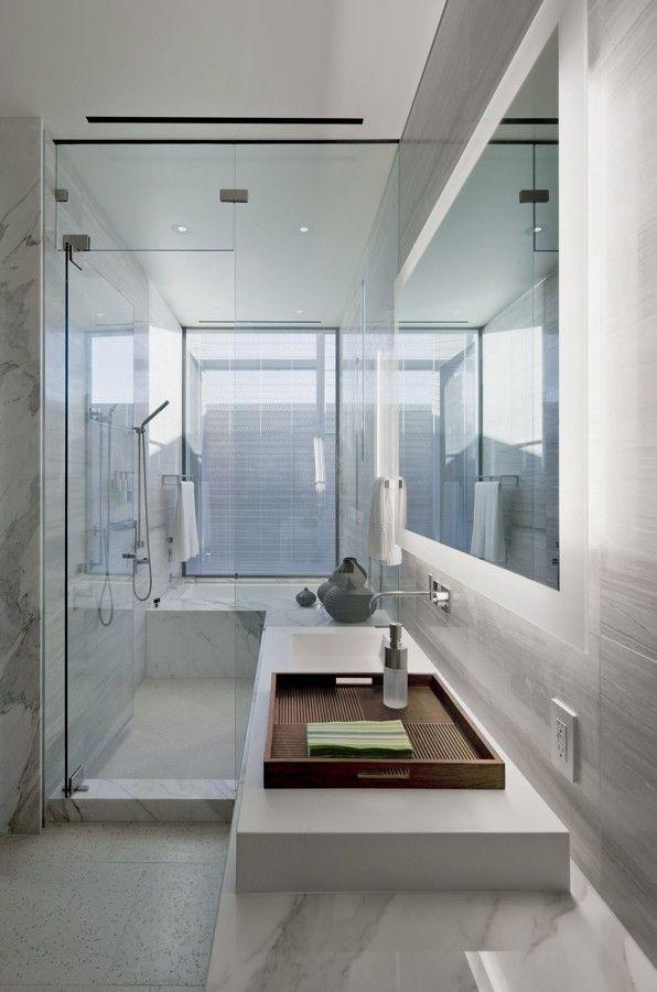 bagno lungo e stretto con vasca e doccia - Cerca con Google