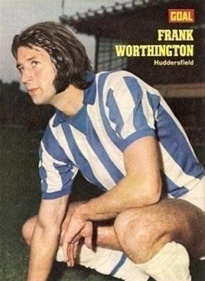 GOAL magazine Huddersfield Town FRANK WORTHINGTON old football picture