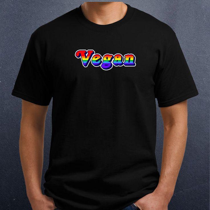Vegan gay pride flag color text shirt gay bear claw shirt 100 cotton