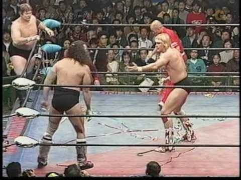Bruiser Brody and Stan Hansen vs Barry Windham and Ron Fuller 1983 AJPW