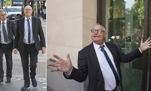 Jonathan King arrives at court to face sex offence charges #DailyMail