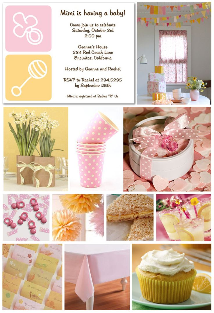 Baby Shower Ideas For Girls On A Budget | Inspiration Board: Budget Baby  Shower |