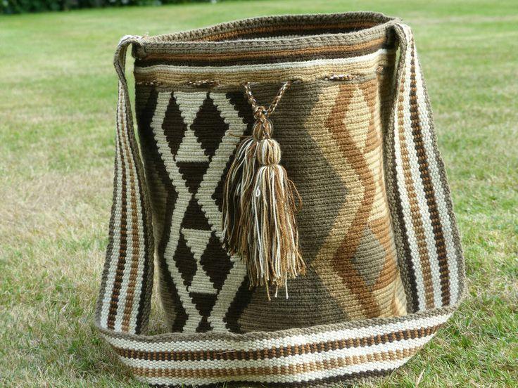 Hand made Wayuu Artisan shoulder Bag/handbag (mochila) #ShoulderBags