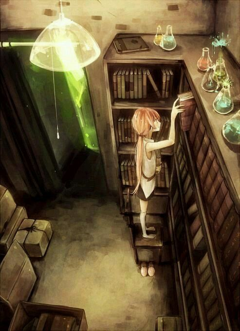 Libraries Anime Girls And Anime On Pinterest