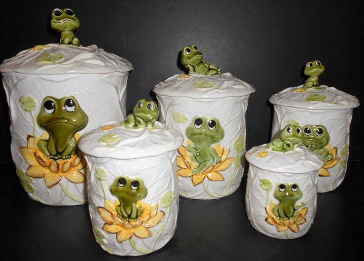 Vintage Canisters Neil The Frog Canister Set Set Of