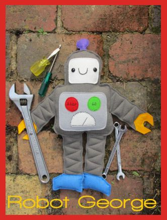 Robot+George+-+by+Two+Brown+Birds-+Softie+PatternSECONDARY_SECTION%2416.50%3A+Fabric+Patch%3A+Patchwork+Quilting+fabrics%2C+Moda+fabric%2C+Quilt+Supplies%2C%A0Patterns