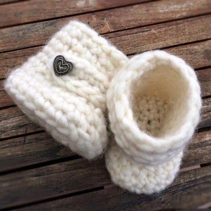 Crochet For Children: Crochet Baby Uggs (Free Pattern)