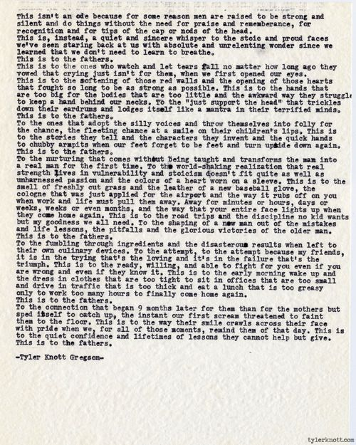 Typewriter Series #446 by Tyler Knott Gregson