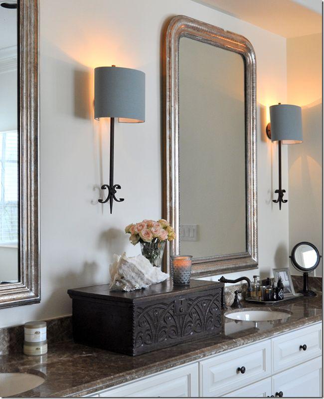 25 best images about master bath renovation on pinterest for Master bathroom sconces