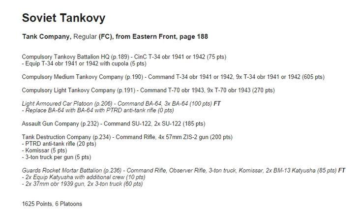 Alexander Kirsanov, Russian Tank Company, MID WAR, 1625 pts