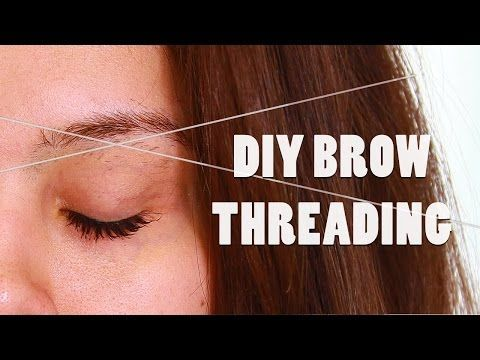 Step By Step Tutorial On How To Thread Eyebrows